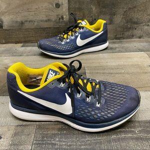 Nike Zoom Pegasus 34 team running shoes women's 10